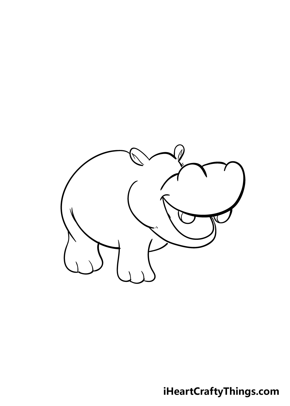 hippo drawing step 3
