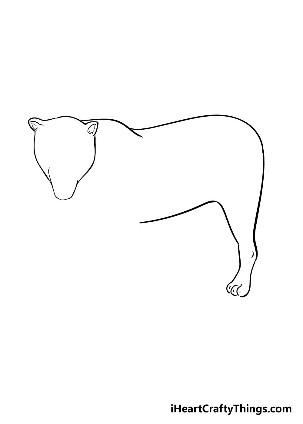 jaguar drawing step 3