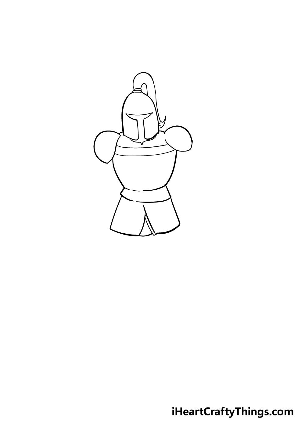 knight drawing step 3