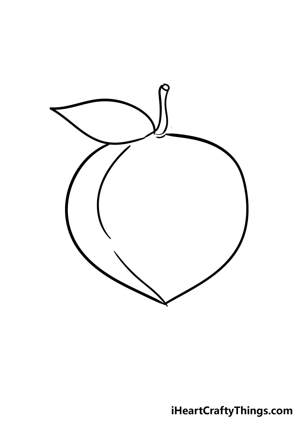 peach drawing step 3