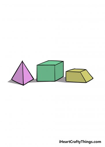 how to draw 3D shapes image