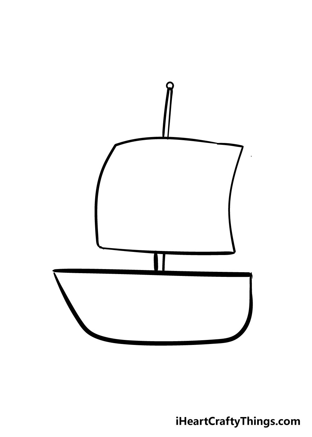 boat drawing step 4