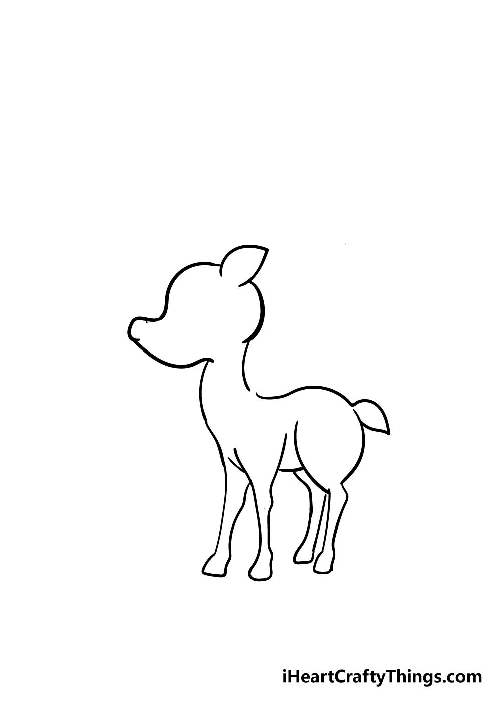 reindeer drawing step 4