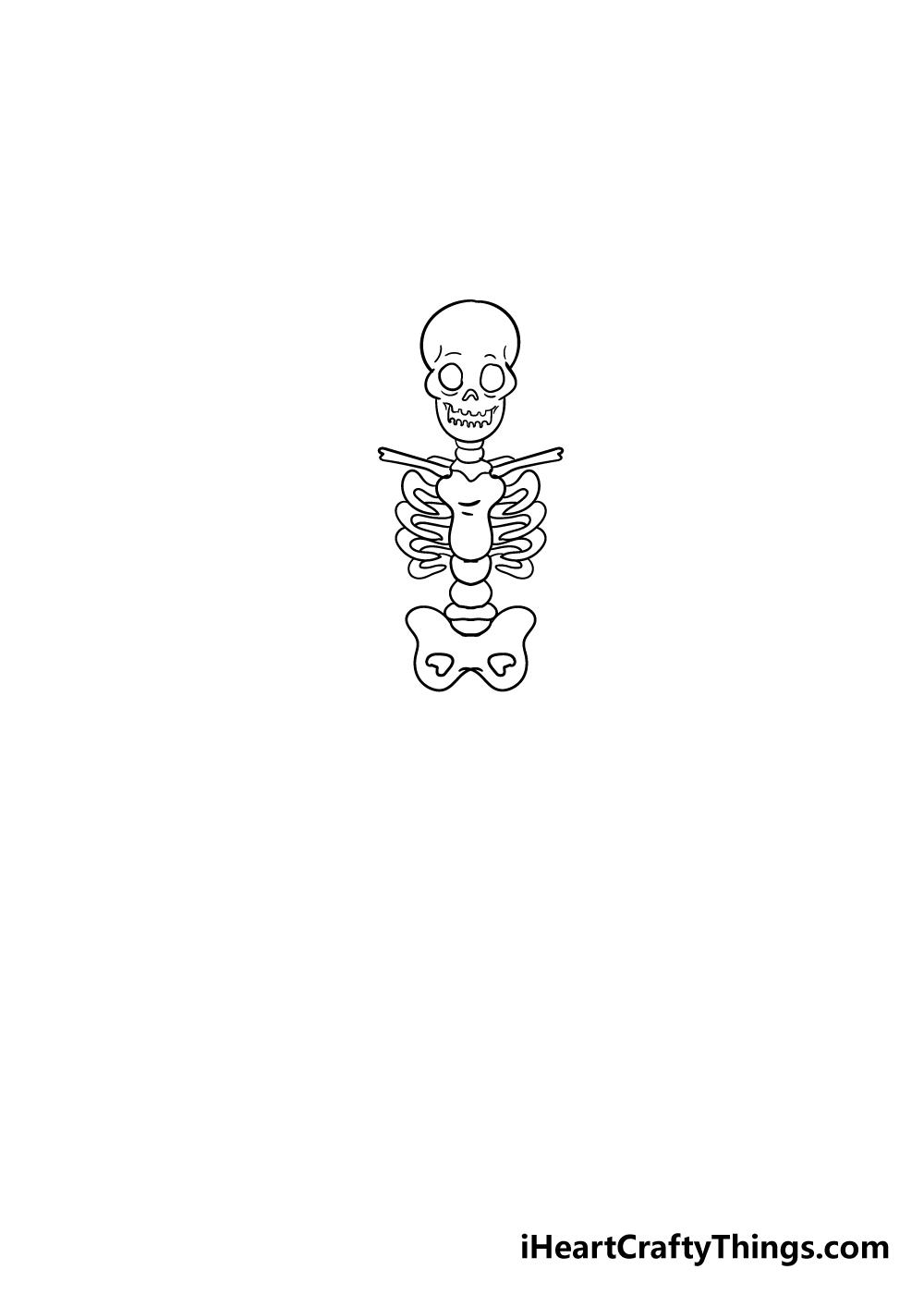 skeleton drawing step 4