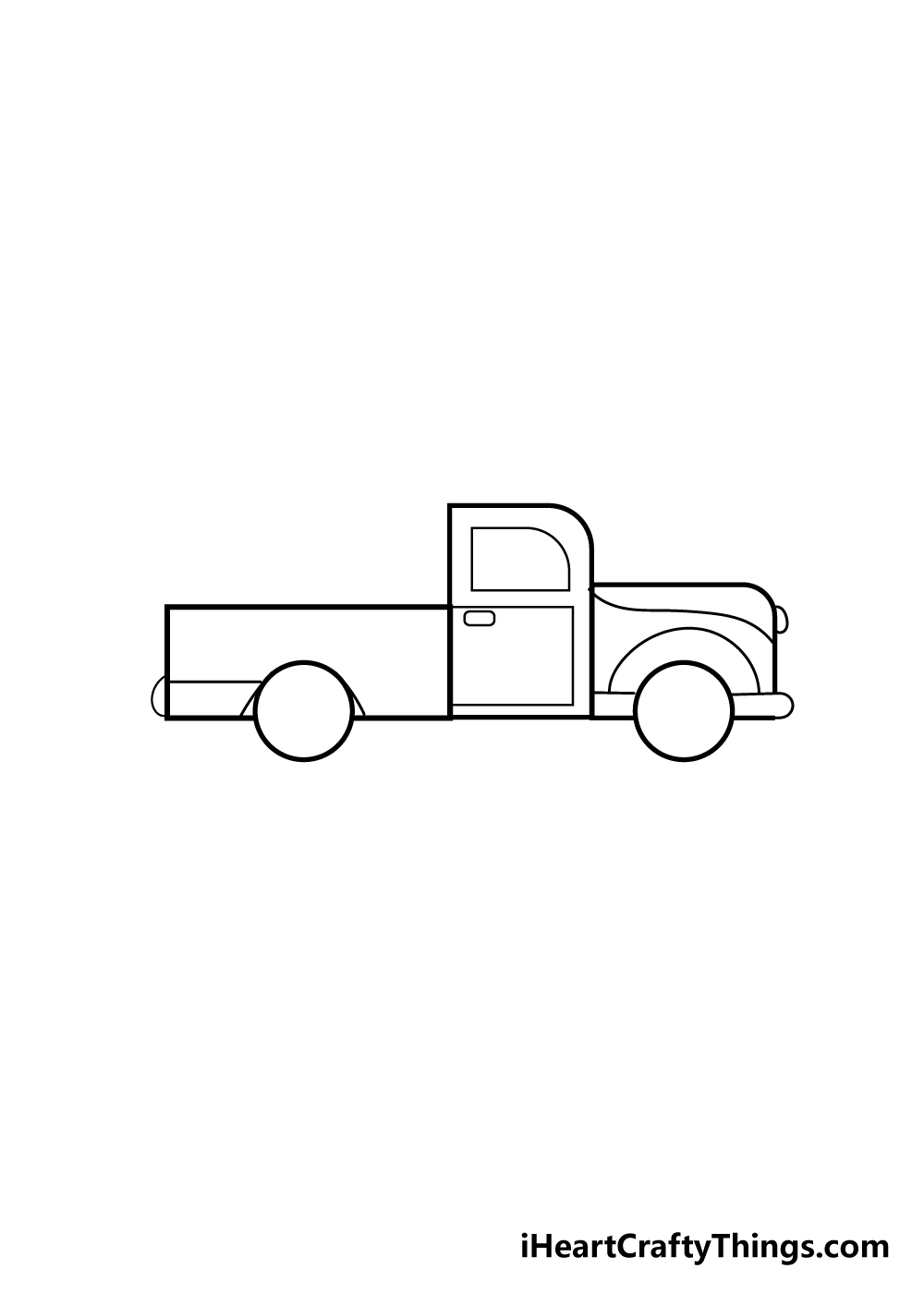 truck drawing step 4