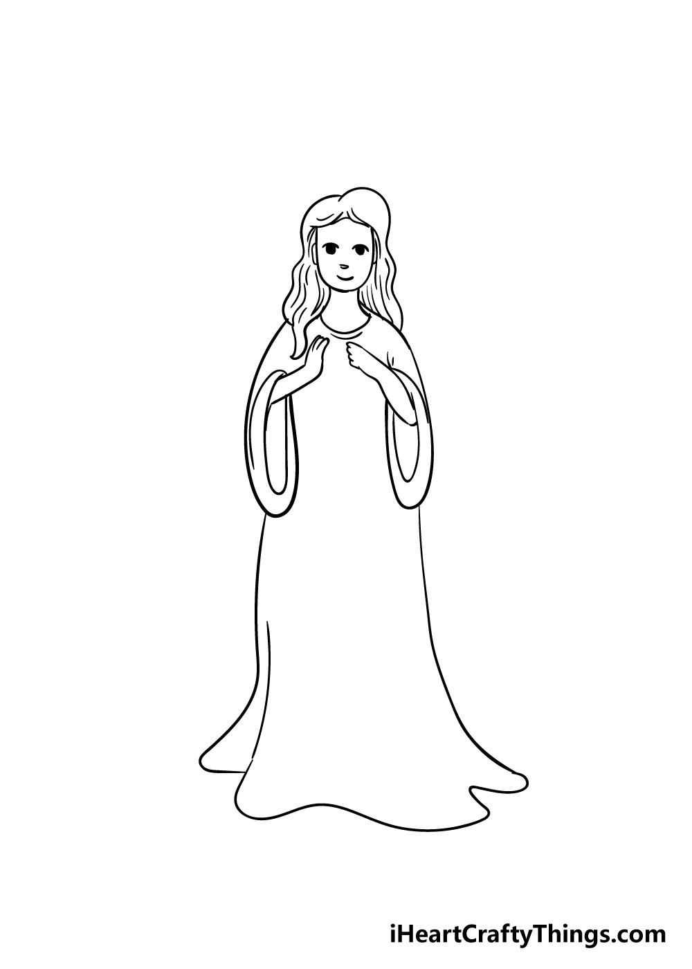 angel drawing step 4