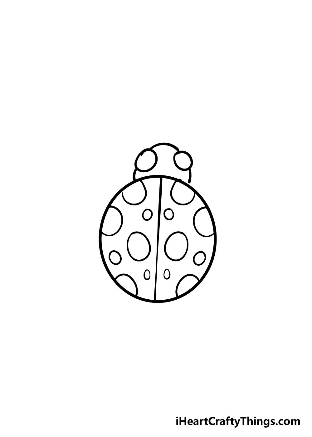 ladybug drawing step 4