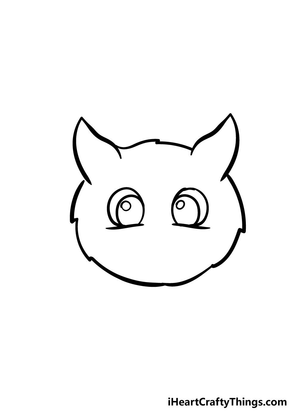 cat face drawing step 4