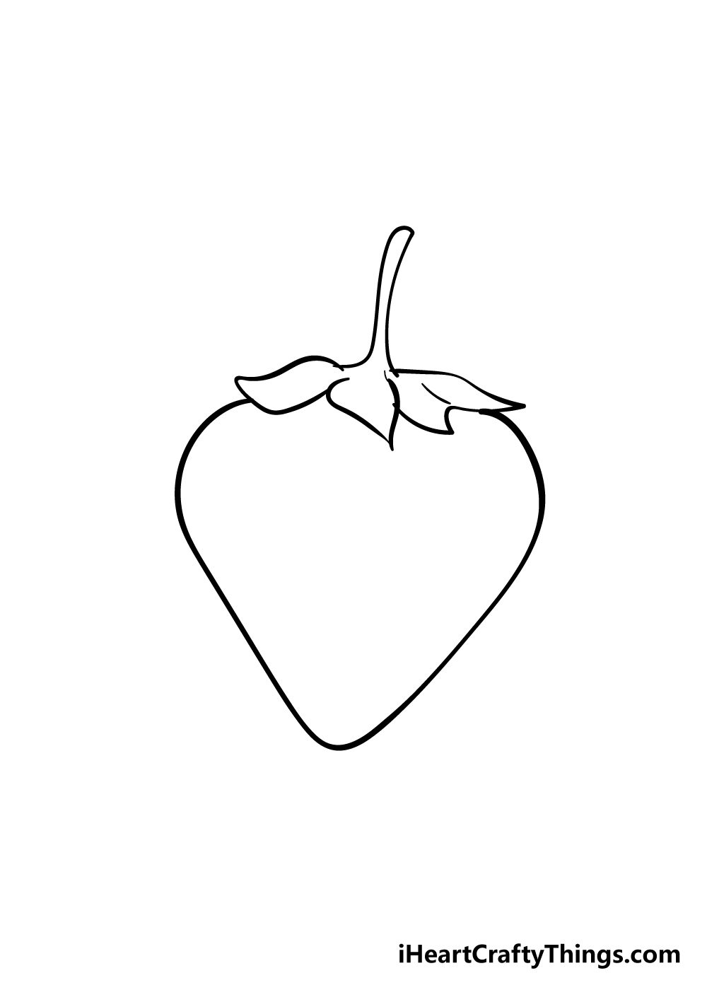 strawberry drawing step 4