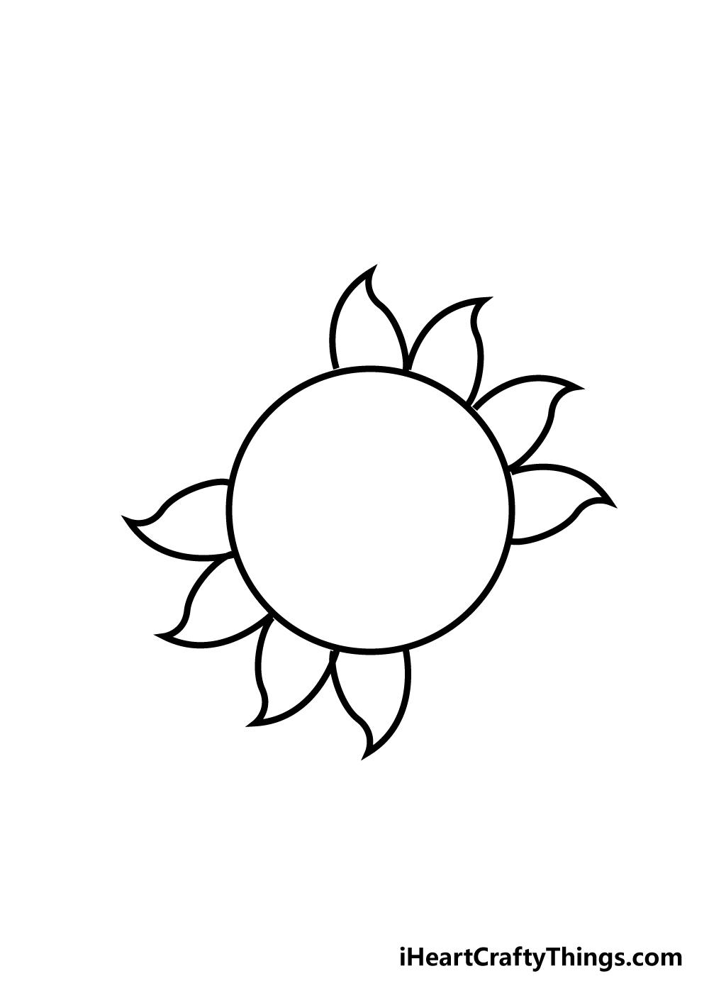 sun drawing step 4