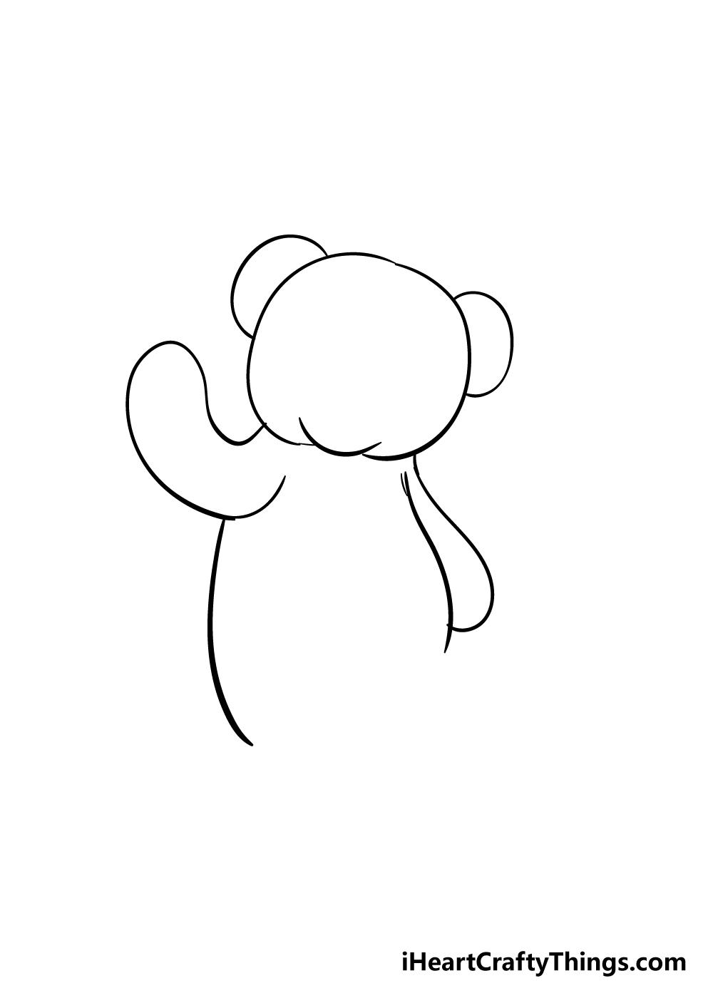 teddy bear drawing step 4