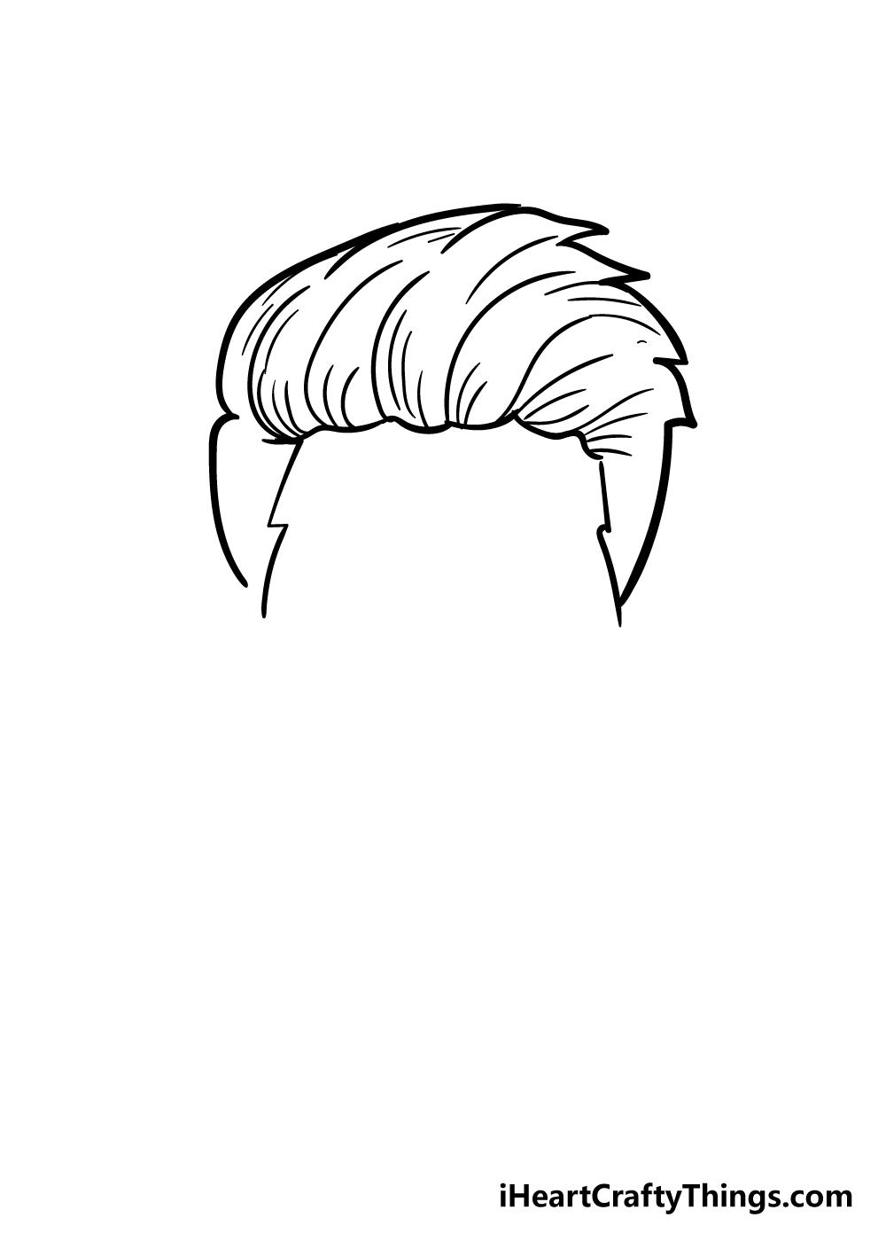 boy's hair drawing step 4