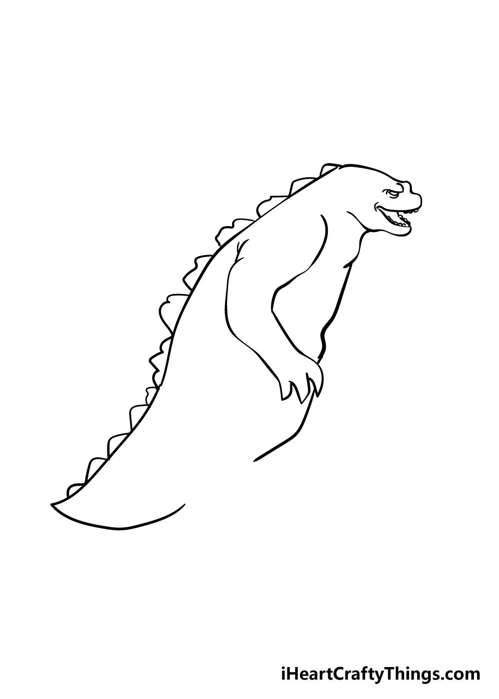 Godzilla drawing step 4
