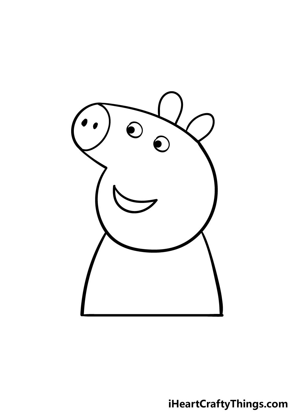 peppa pig drawing step 4