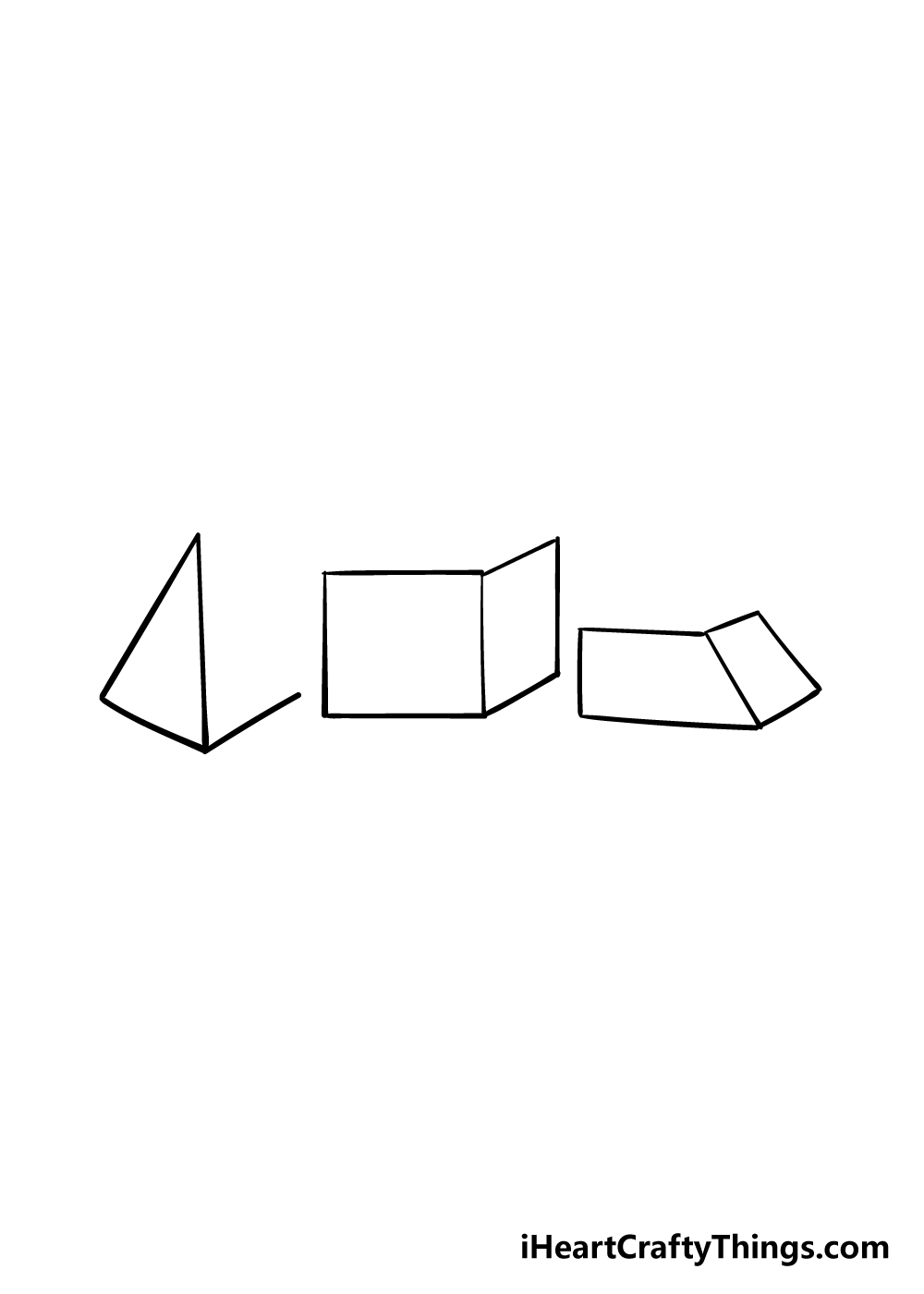 3D shapes drawing step 4