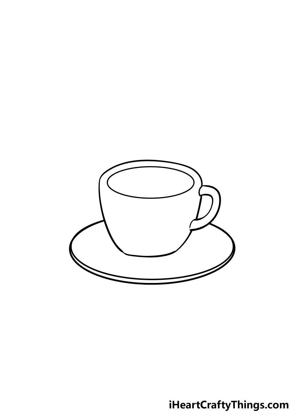 coffee cup drawing step 4