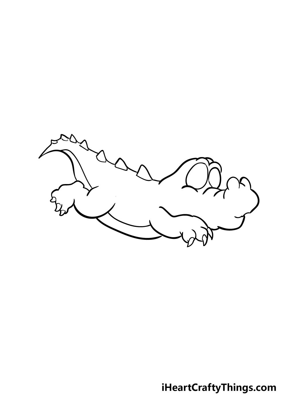 crocodile drawing step 4