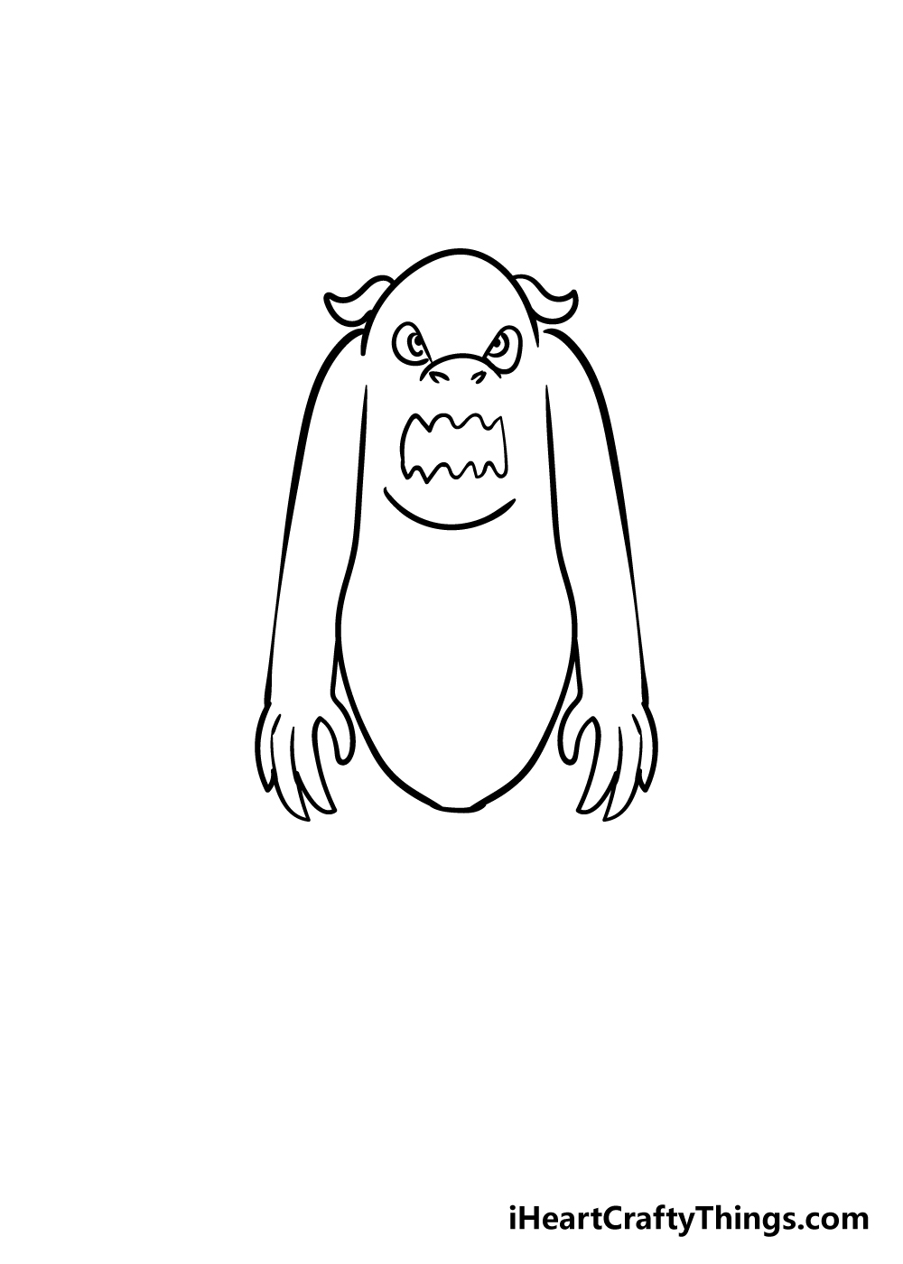 monster drawing step 4