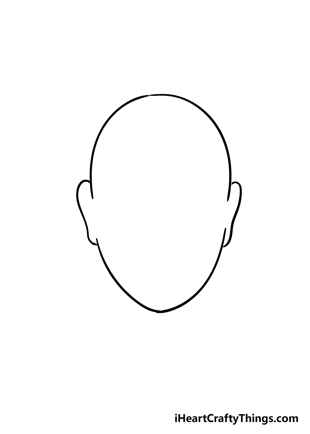 face shape drawing step 4