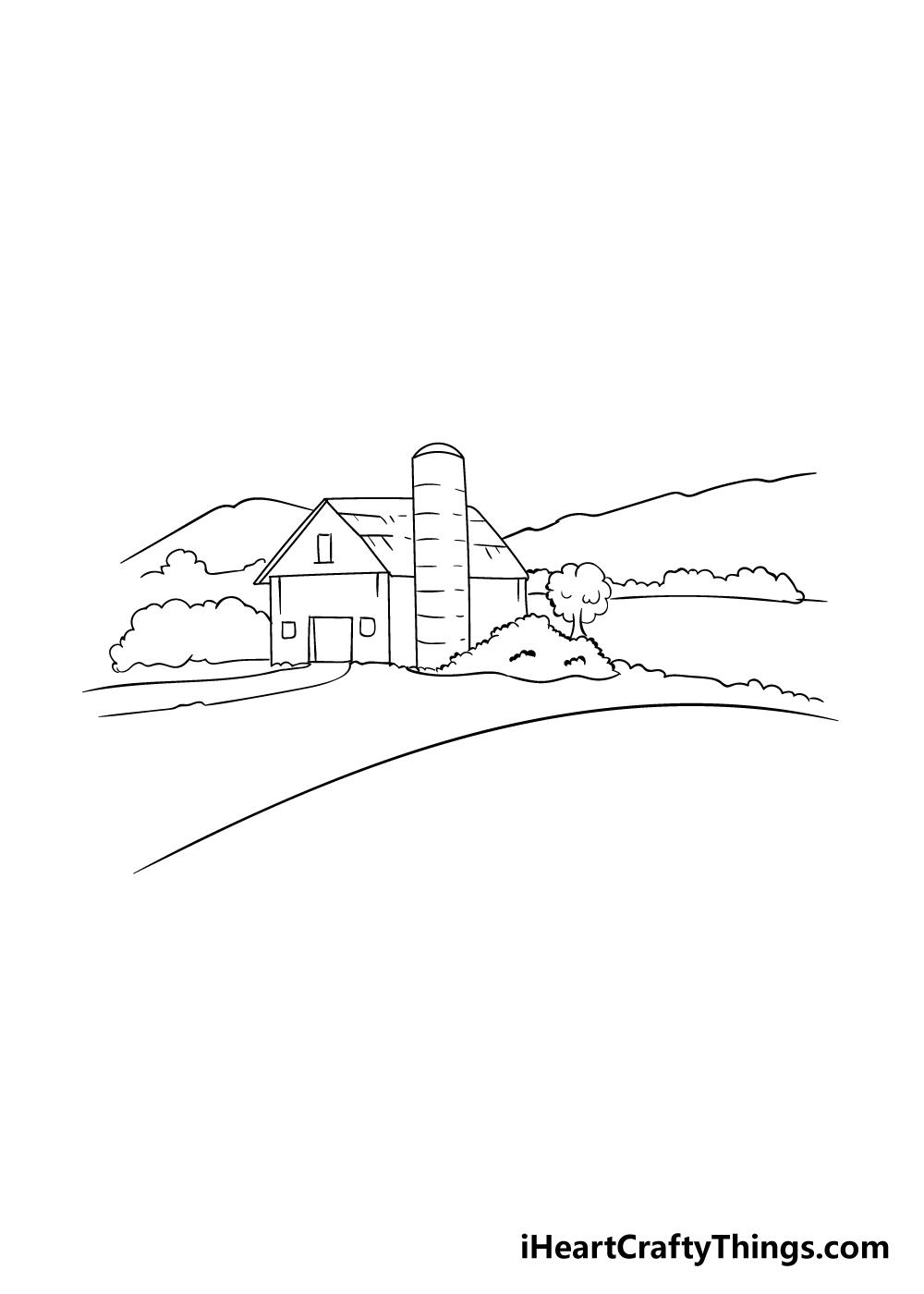 farm drawing step 4