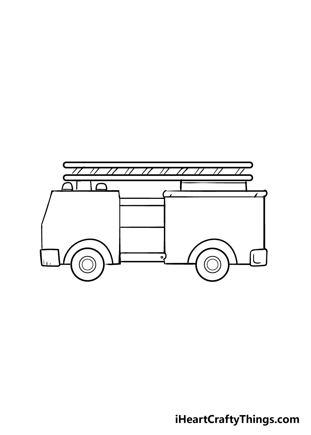 fire truck drawing step 4