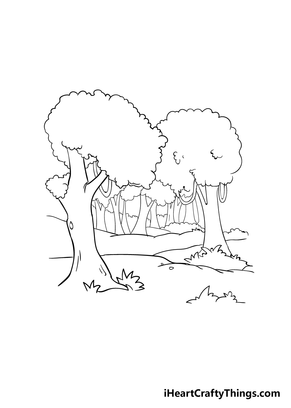 forest drawing step 4