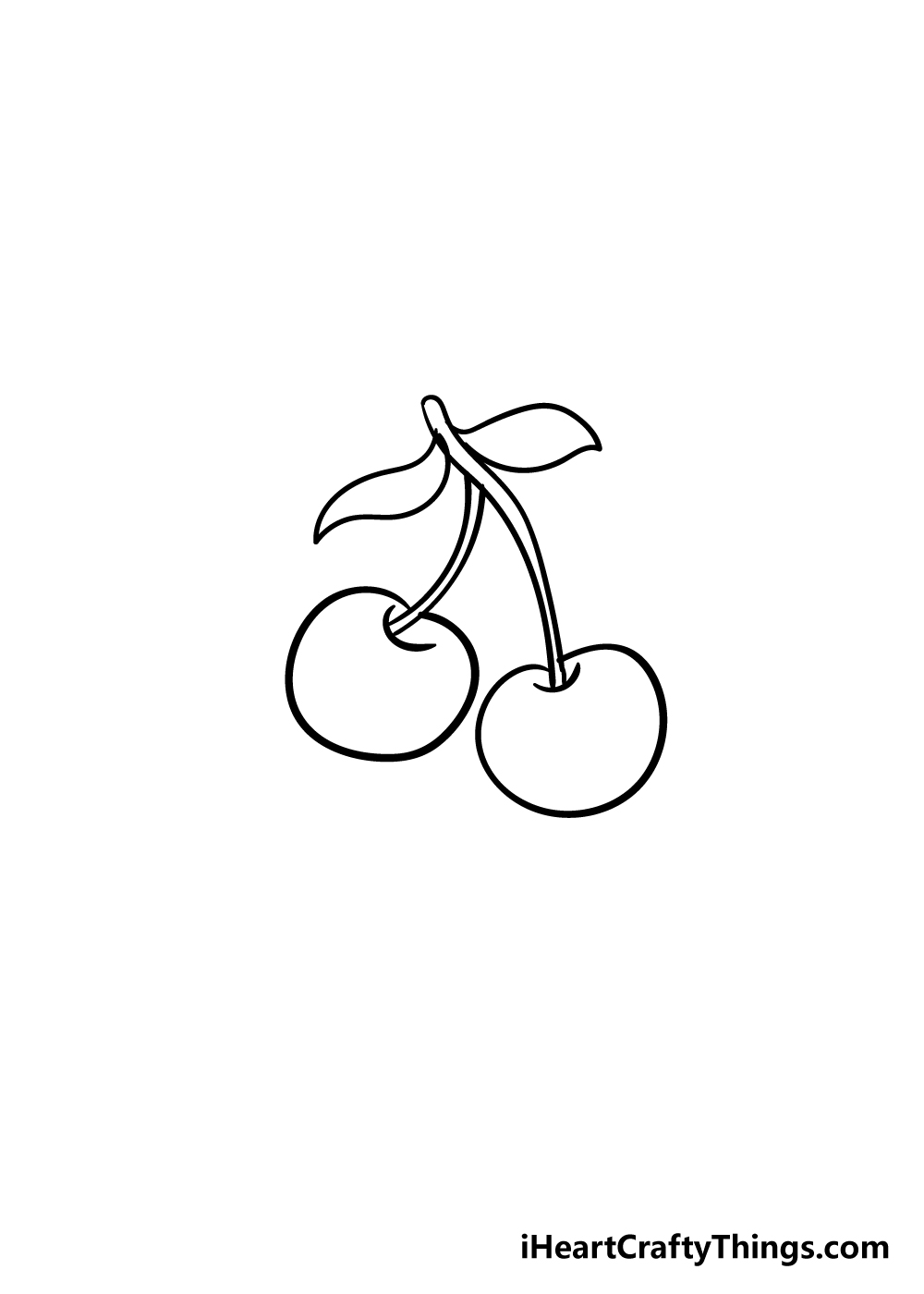 cherry drawing step 4