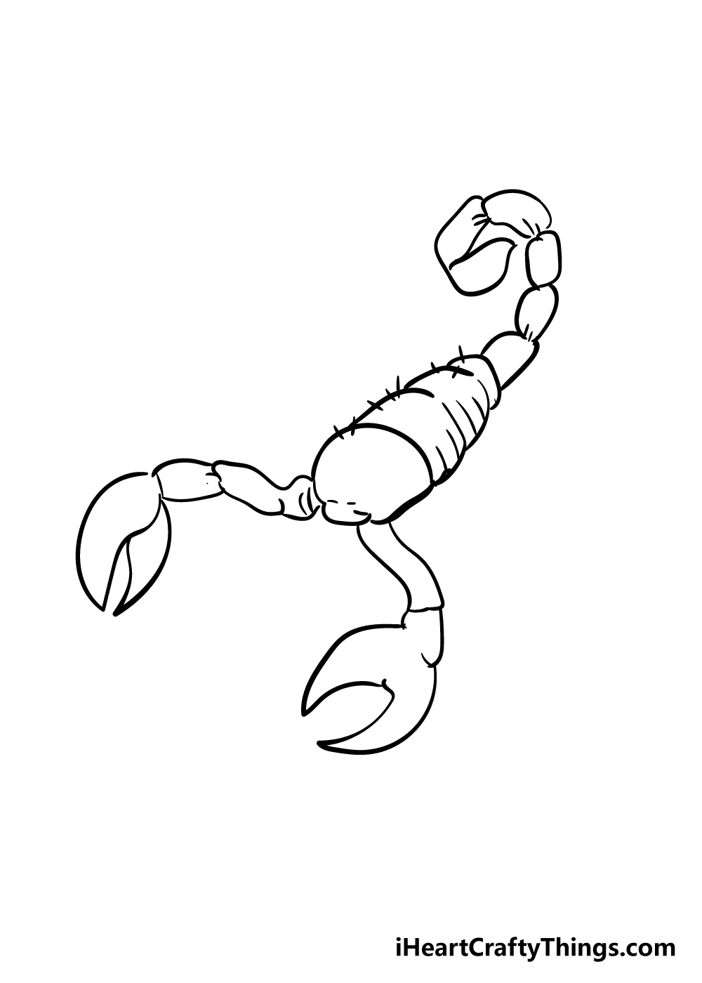 scorpion drawing step 4