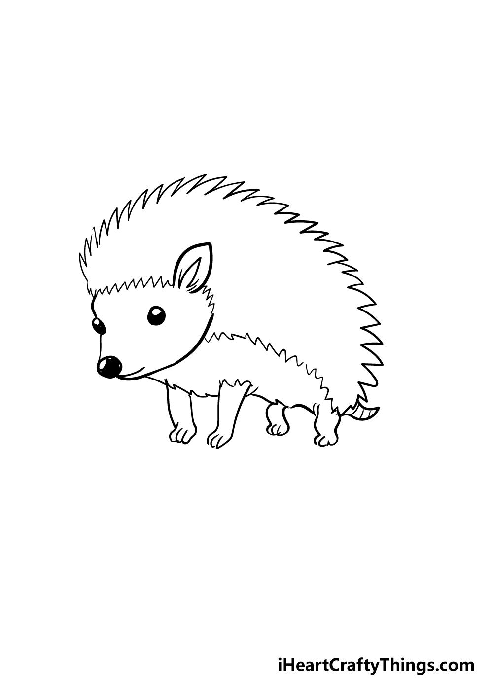 hedgehog drawing step 4