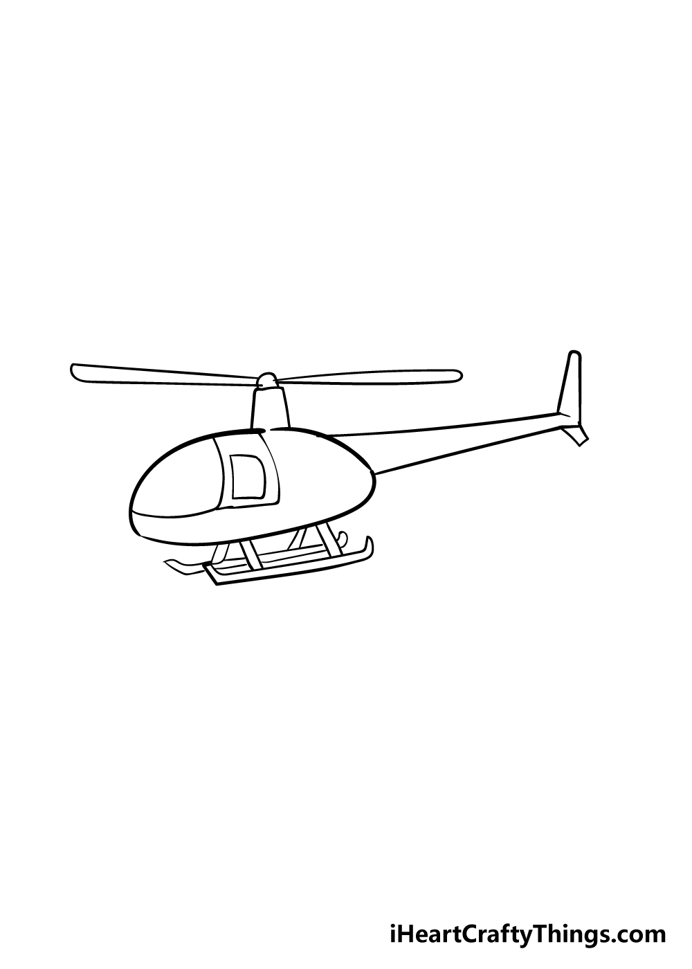 helicopter drawing step 4