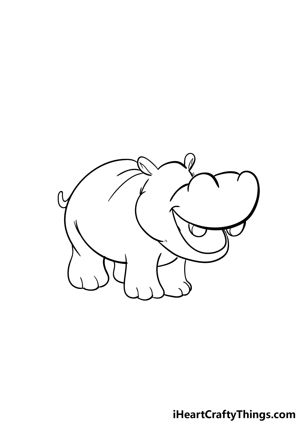 hippo drawing step 4