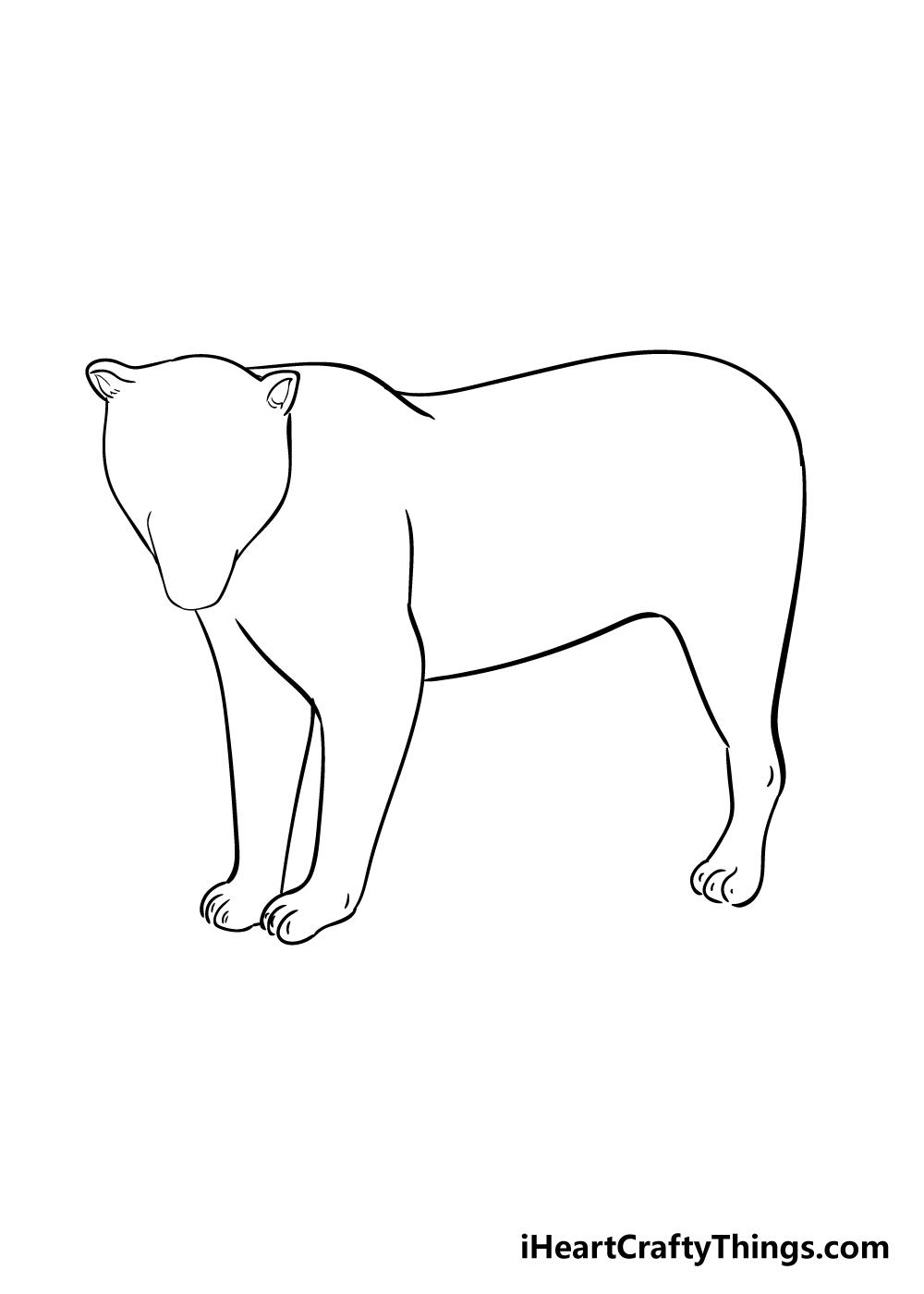 jaguar drawing step 4