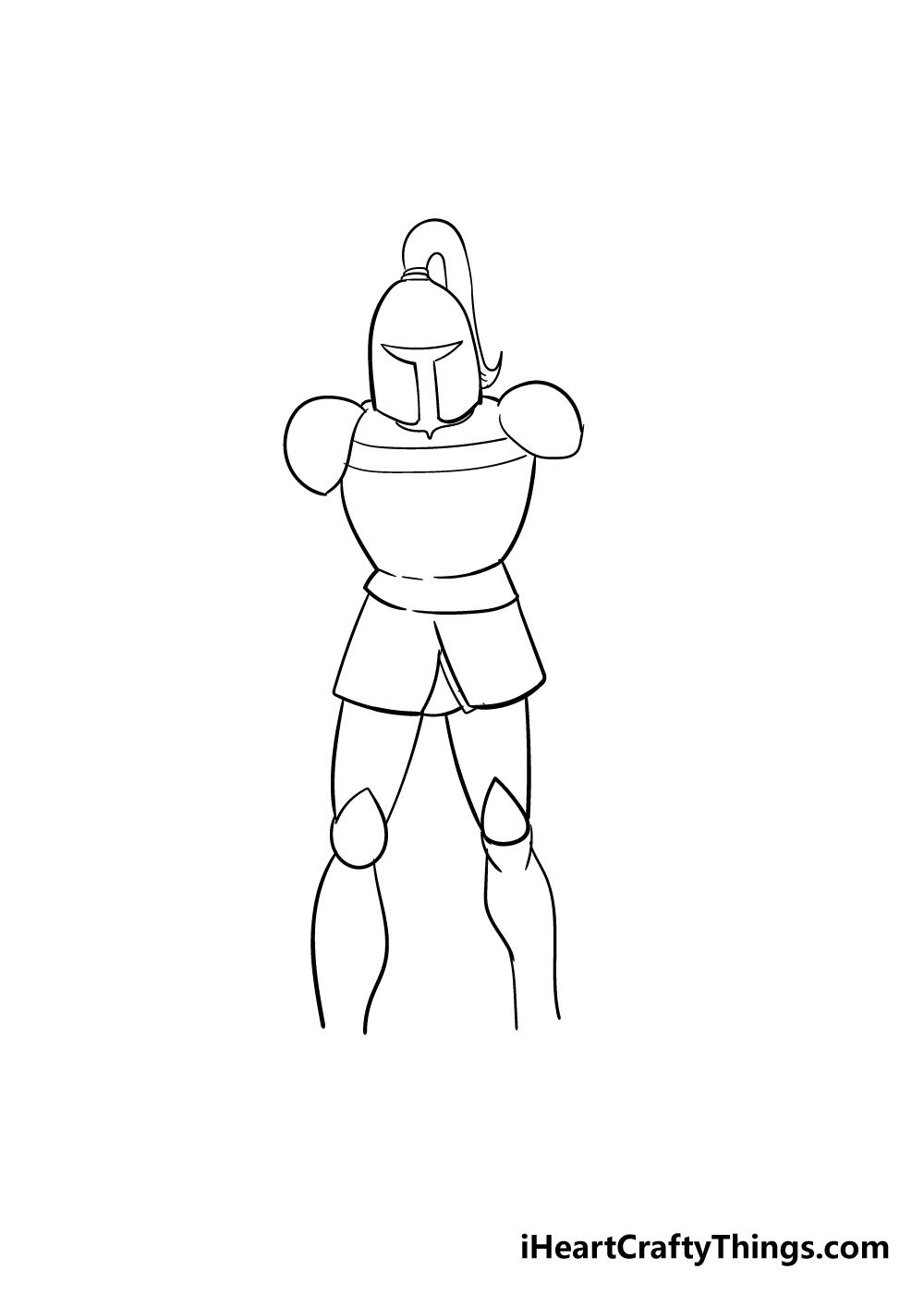 knight drawing step 4