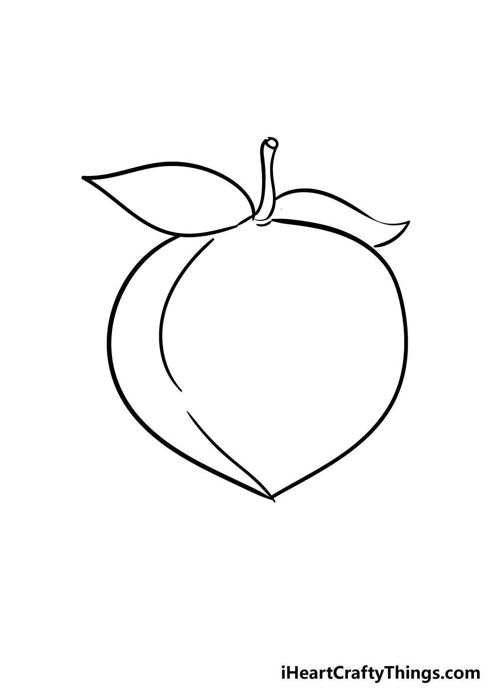 peach drawing step 4