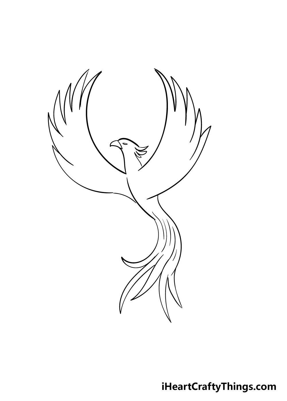 phoenix drawing step 4