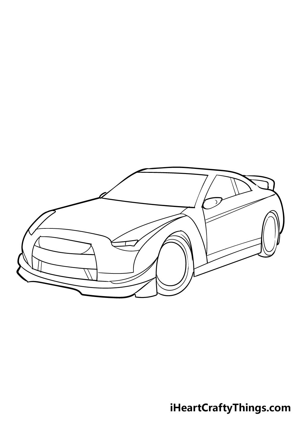 racecar drawing step 4