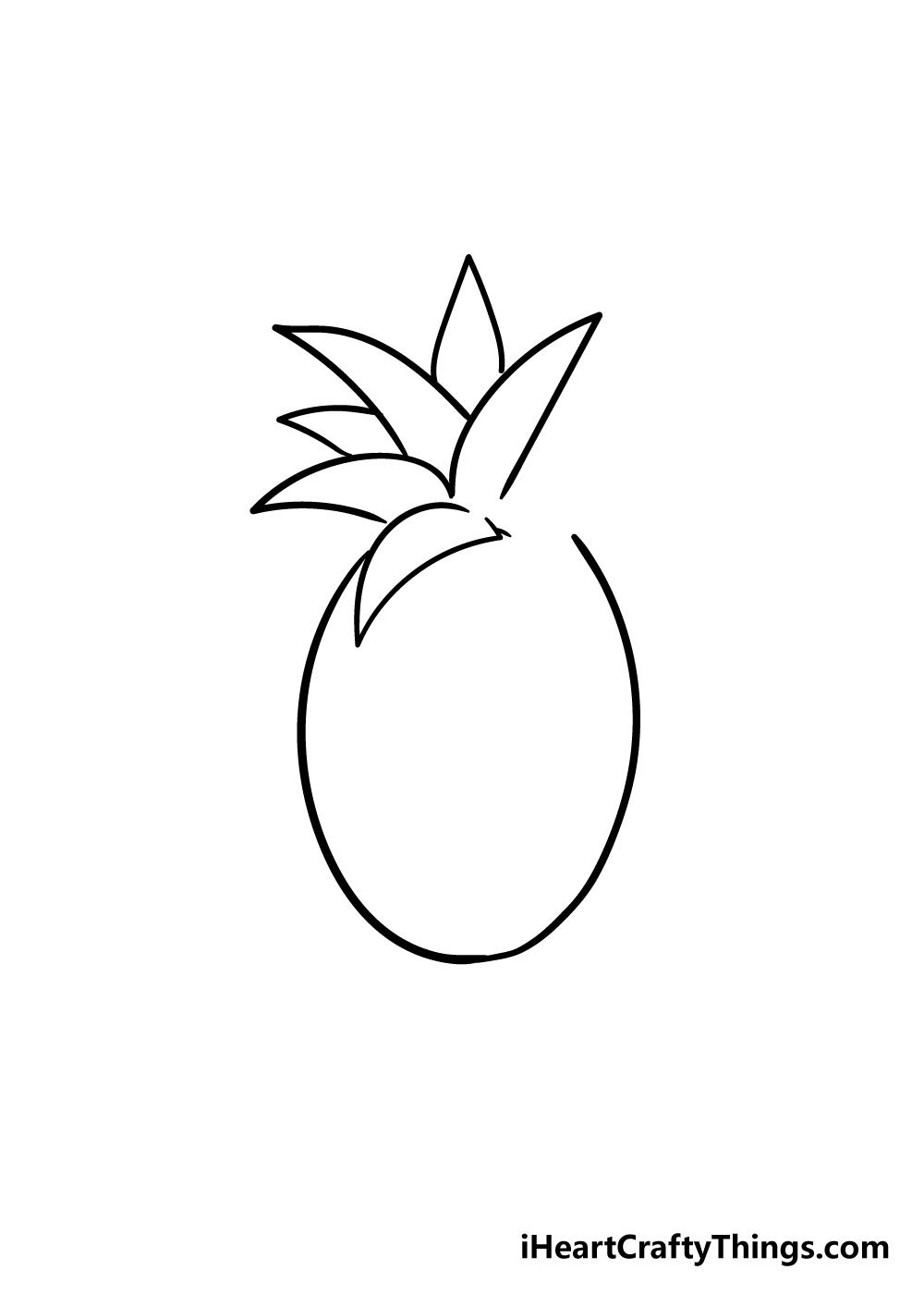 pineapple drawing step 4