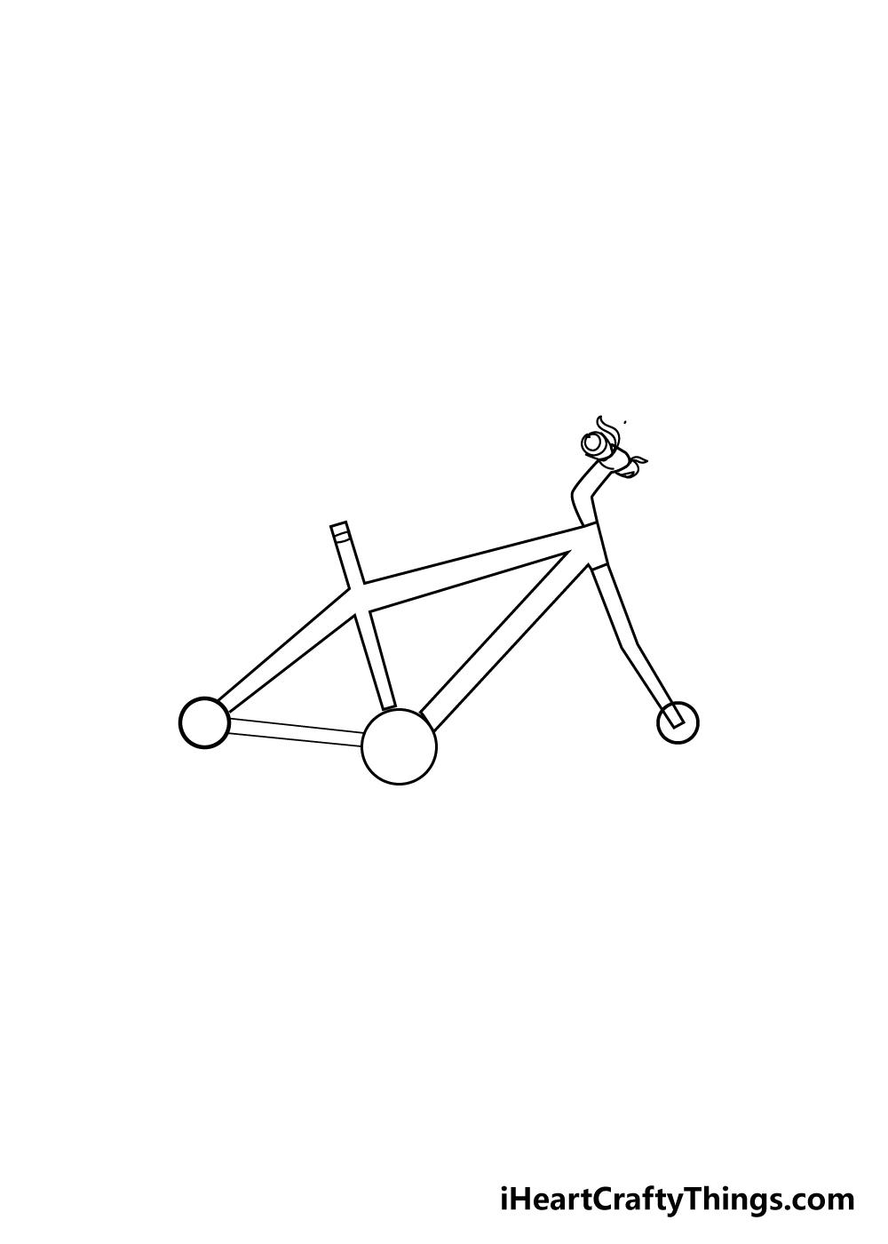 bike drawing step 4