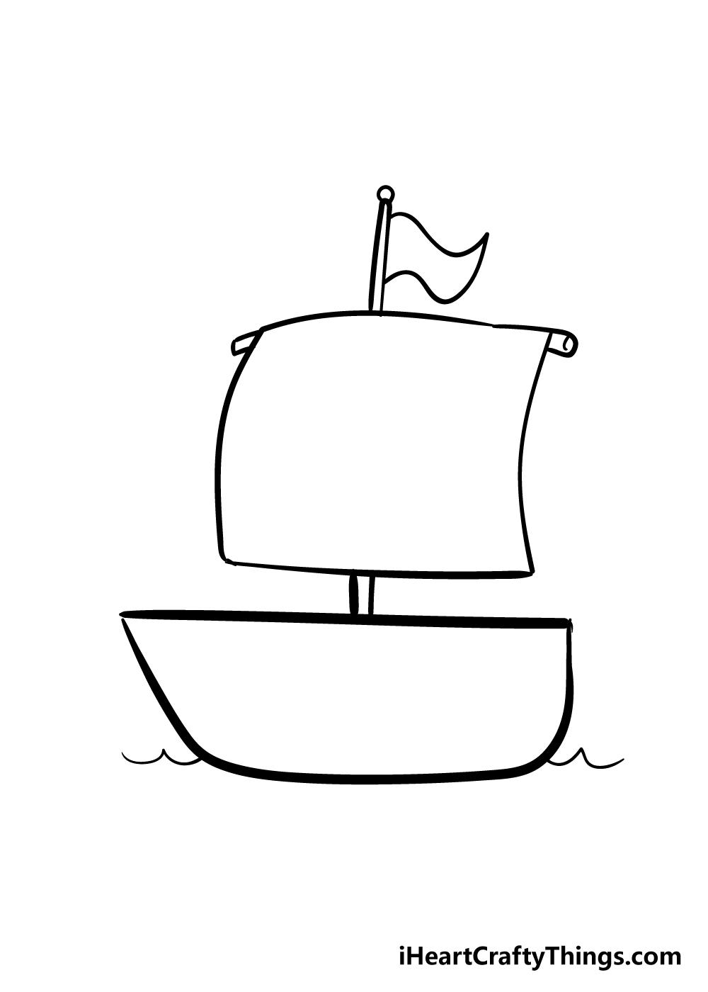 boat drawing step 5