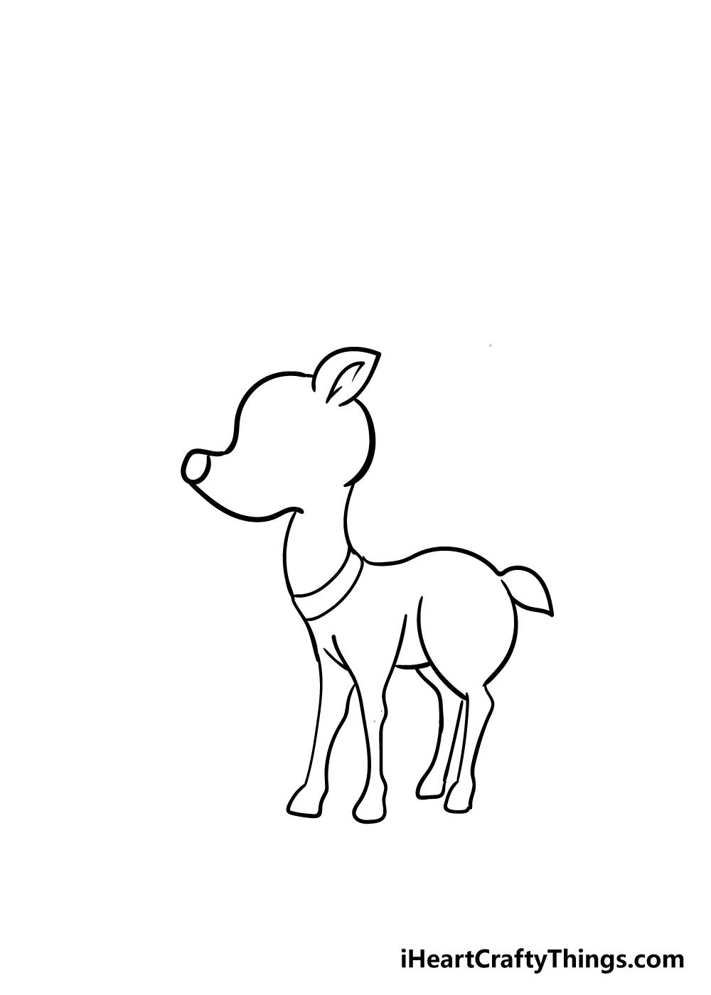 reindeer drawing step 5