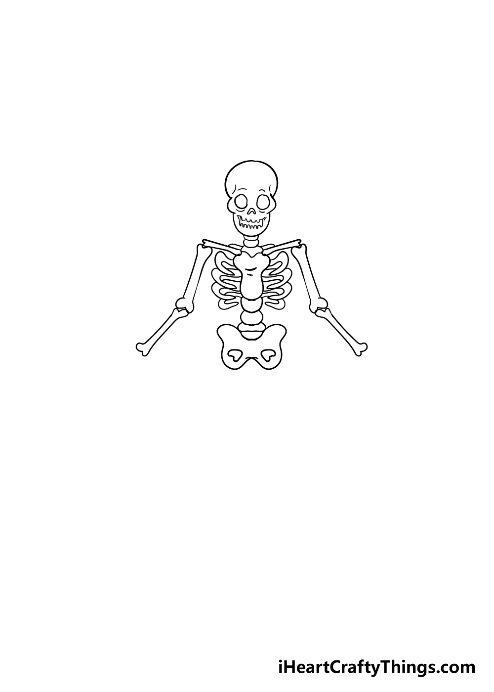 skeleton drawing step 5