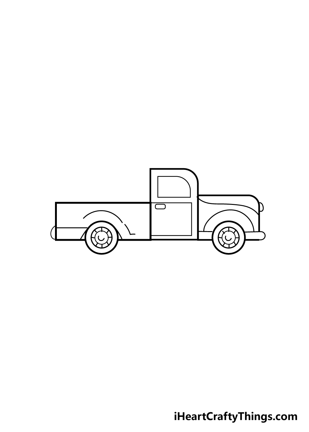 truck drawing step 5