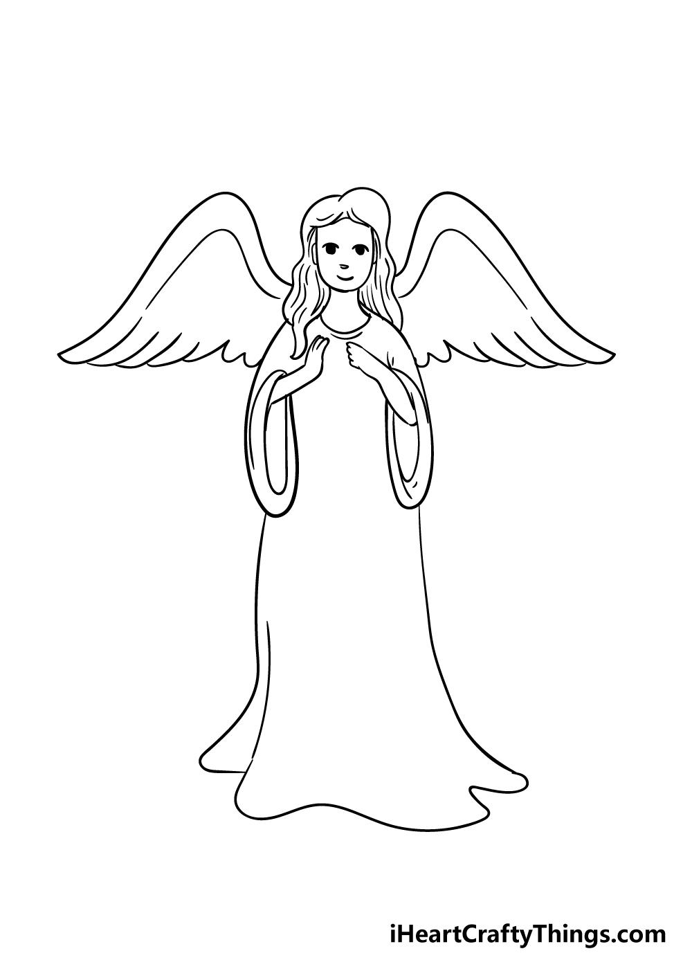 angel drawing step 5