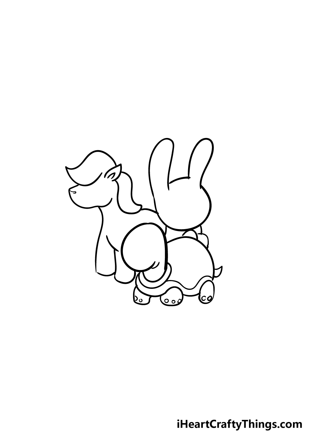 cute animals drawing step 5