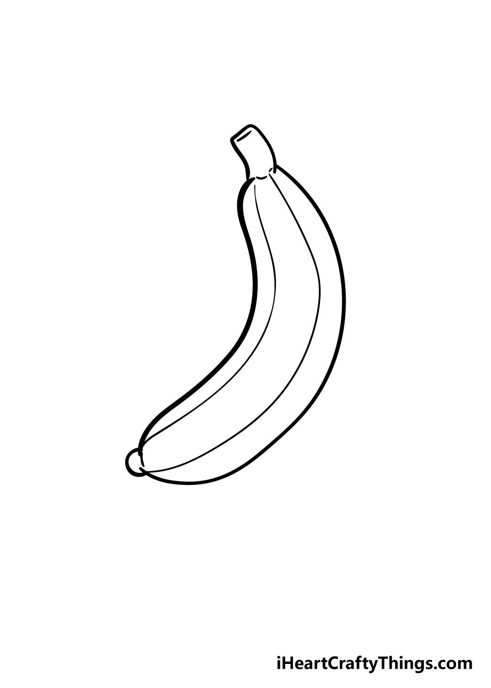 banana drawing step 5