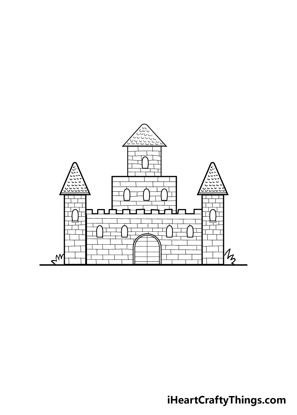 castle drawing step 5