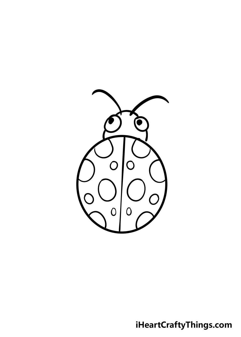 ladybug drawing step 5