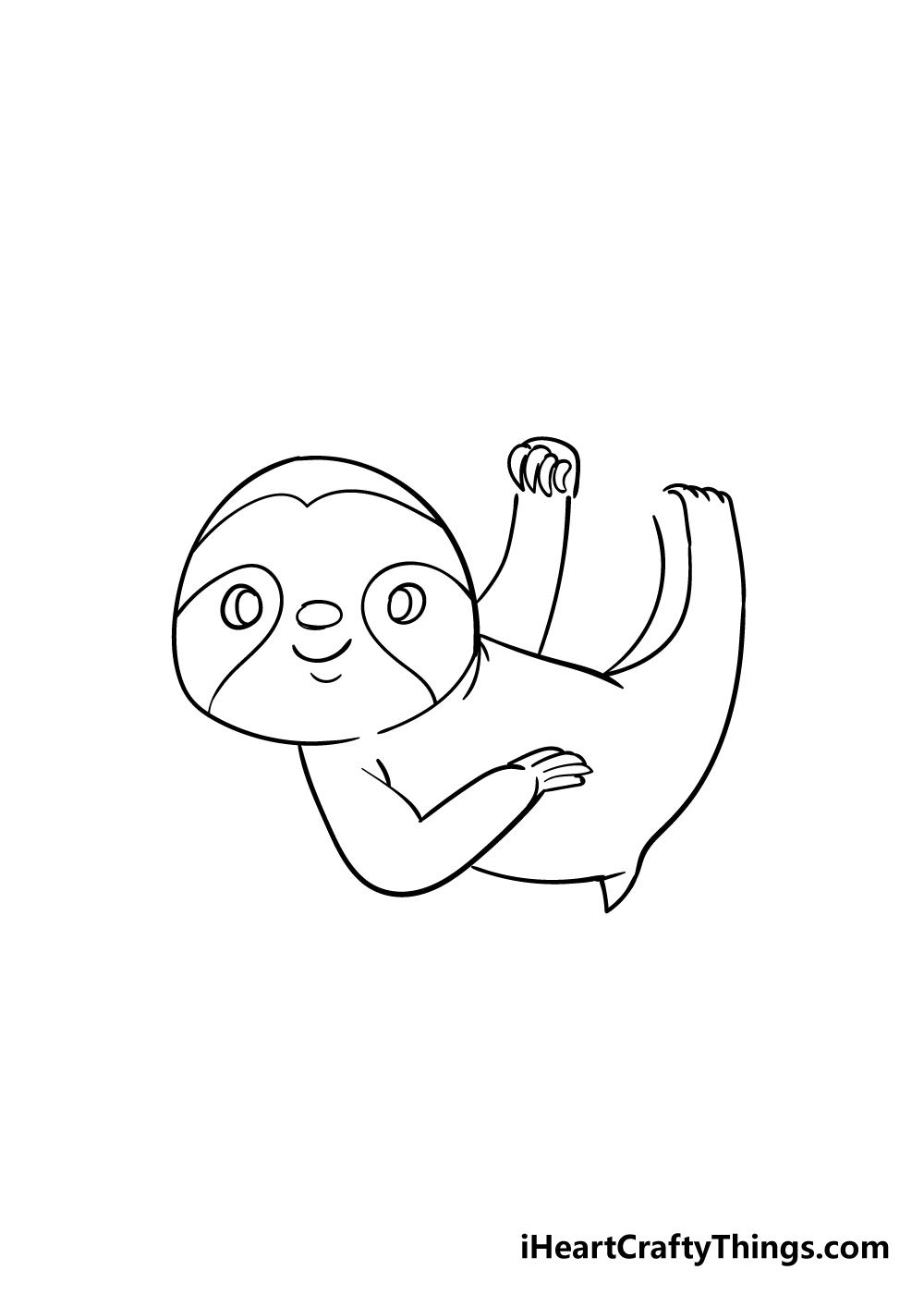 sloth drawing step 5
