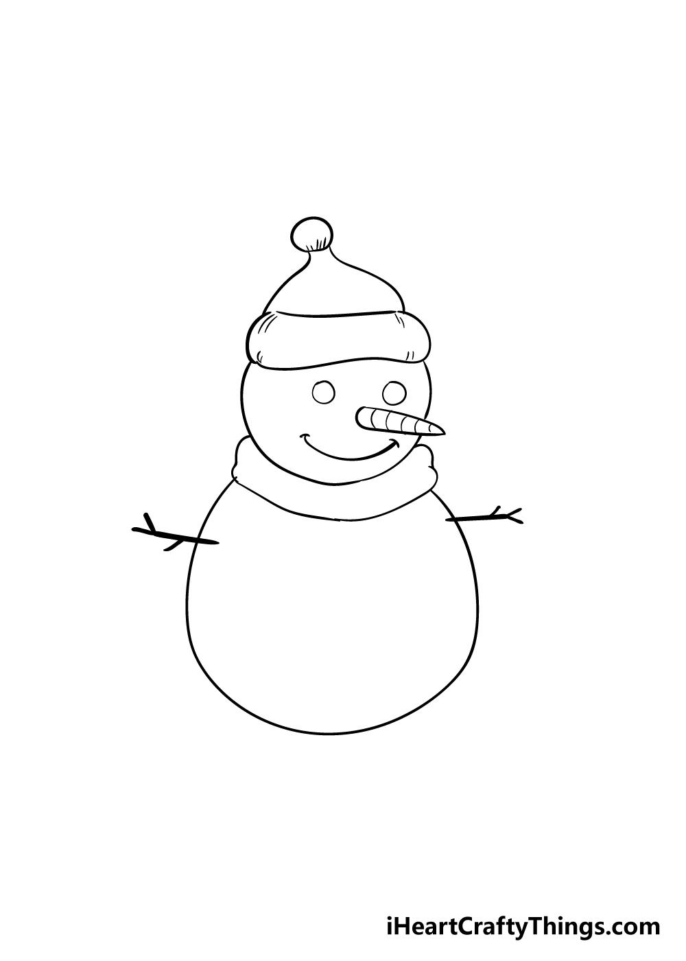 snowman drawing step 5