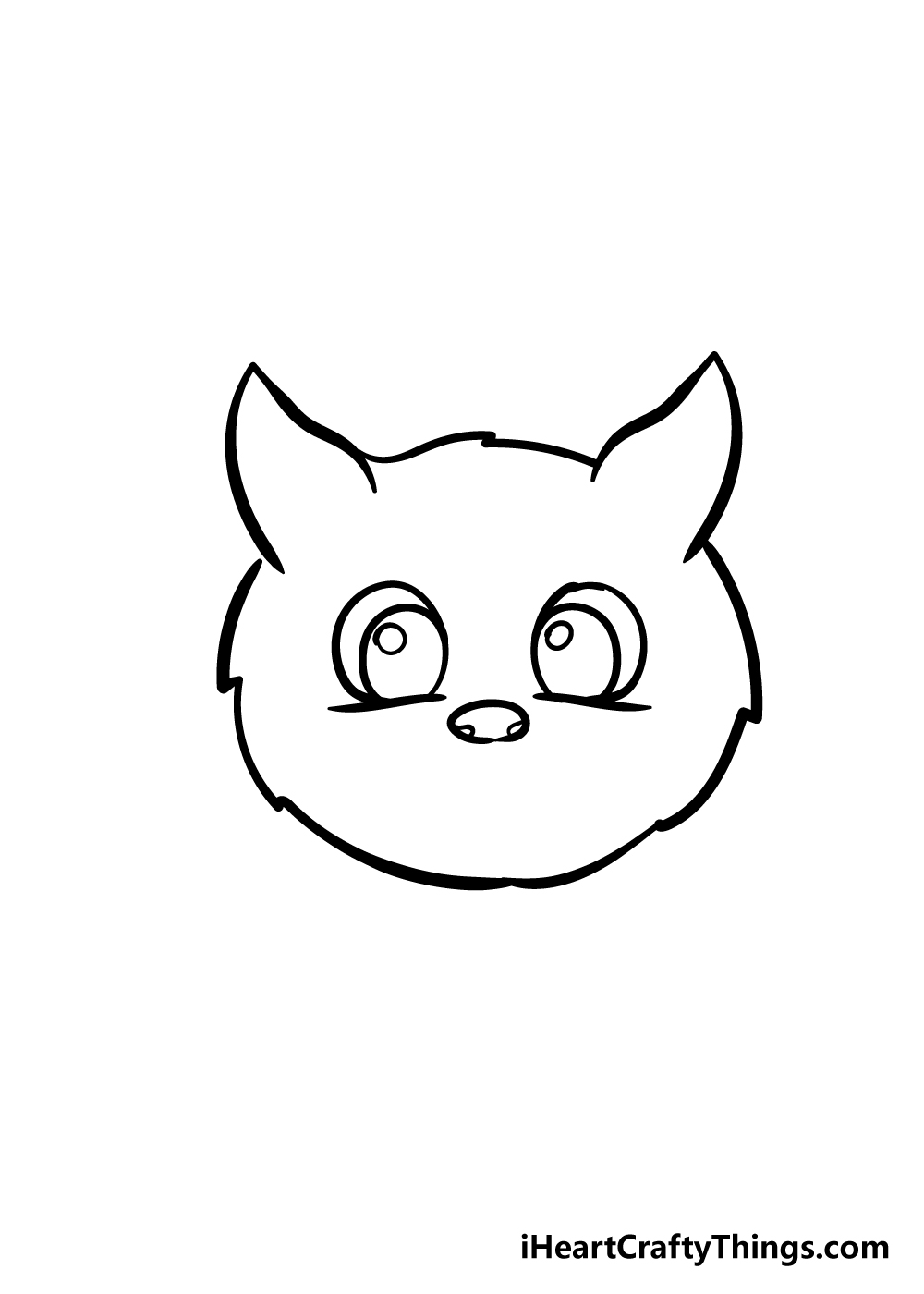 cat face drawing step 5